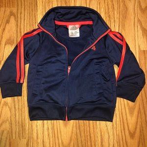 EUC. Adidas Track Jacket. Blue & Orange
